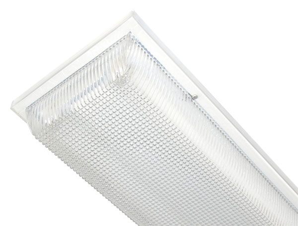 Linear Strip Luminaires with Clear Prismatic Polycarbonate Lens for Covered Ceilings